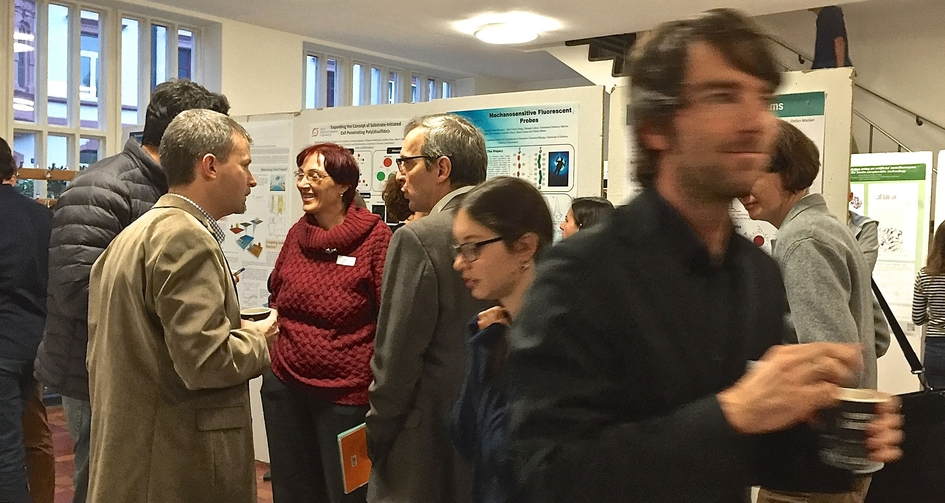 The poster session at the 1st Technology Apéro 2014.