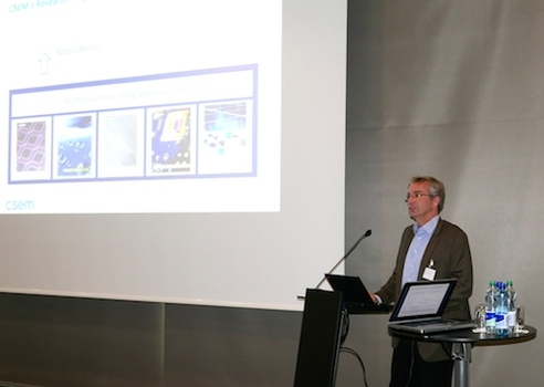 Guest-speakers at the 2015 Technology Apéro included Dr. Harry Heinzelmann from CSEM.