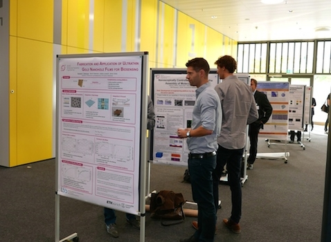 PhD- and postdoc students presented scientific posters about their research for the NCCR Molecular Systems Engineering.
