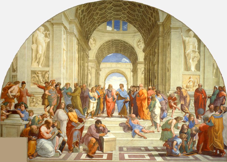 """""""La scuola di Atene"""", by Raffaelo."""