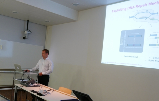 Lunch Meeting 15 July 2015, William Kelton from the Reddy-Group presenting.