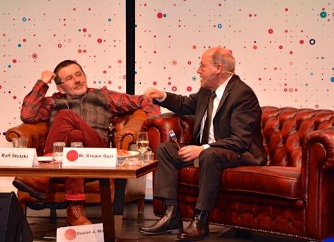 Basar Molekular, 23 February 2017: Dr. Gregor Gysi talking with host Ralf Stutzki.